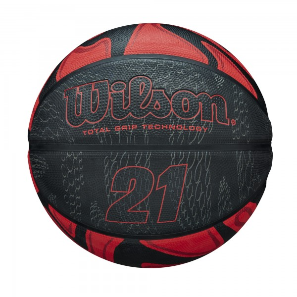 Wilson Basketball 21 Series black/red Gr.7