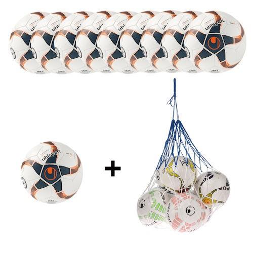 Uhlsport Futsal Medusa Nereo Ballpaket (10 Bälle + Ballnetz)