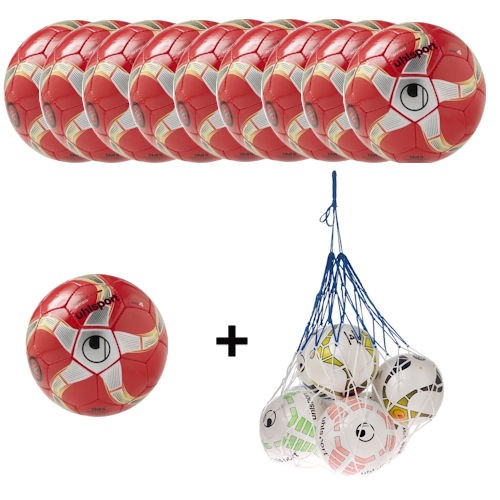 Uhlsport Futsal Medusa Anteo Ballpaket (10 Bälle + Ballnetz)
