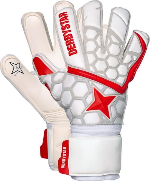 Derbystar Torwarthandschuhe APS White Red Star II