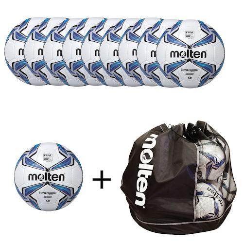 Molten Fußballpaket 10 x F5V4800 inklusiver Balltasche