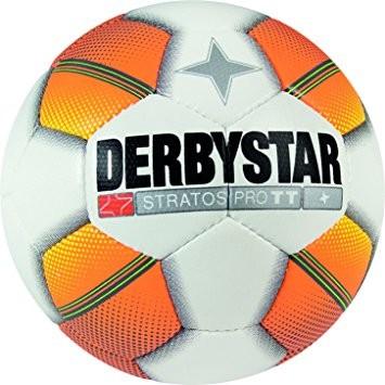 Derbystar Fußball Stratos Pro TT weiß/orange/gelb