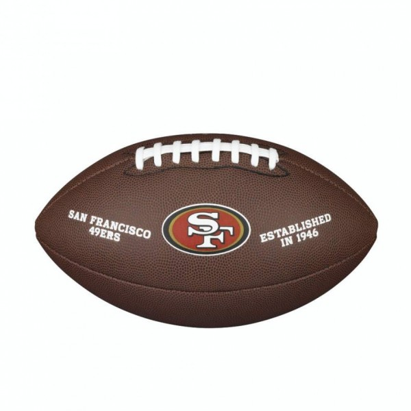 Wilson Football NFL Team Logo San Francisco 49ers WTF1748XBSF