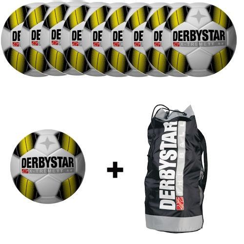 Derbystar Fußball X-Treme TT Gr.5 Ballpaket (10 Bälle+Ballnetz)