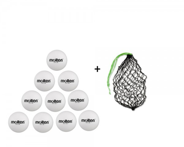 Molten Softball Soft-VW 10er Ballpaket inkl. Ballnetz