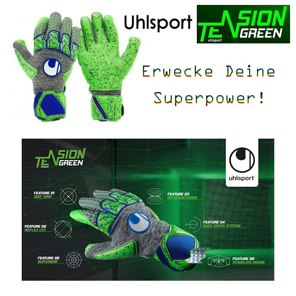 Torwarthandschuhe Tensiongreen Pro Uhlsport