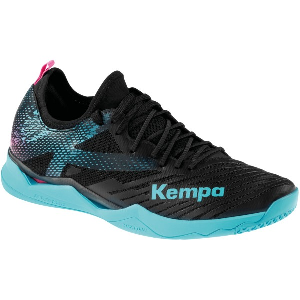 Kempa Handballschuhe Wing Lite 2.0 schwarz/aqua