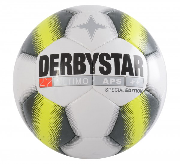 Derbystar Fußball Ultimo APS Special Edition weiß/schwarz/gelb Gr.5