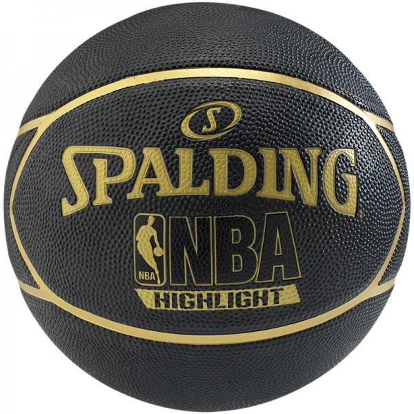 Spalding Basketball NBA Highlight Black/Gold