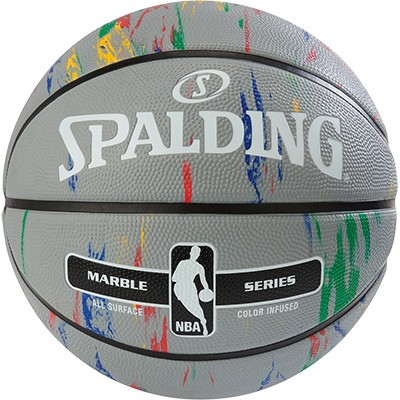 Spalding Basketball NBA Marble - grau/multi-color