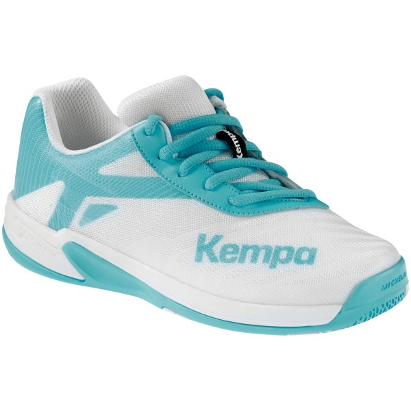 Kempa Handballschuhe Wing 2.0 Junior weiß/aqua