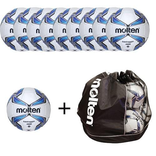 Molten Ballpaket Fußball F5V4200 (10 Bälle inklusive Balltasche)