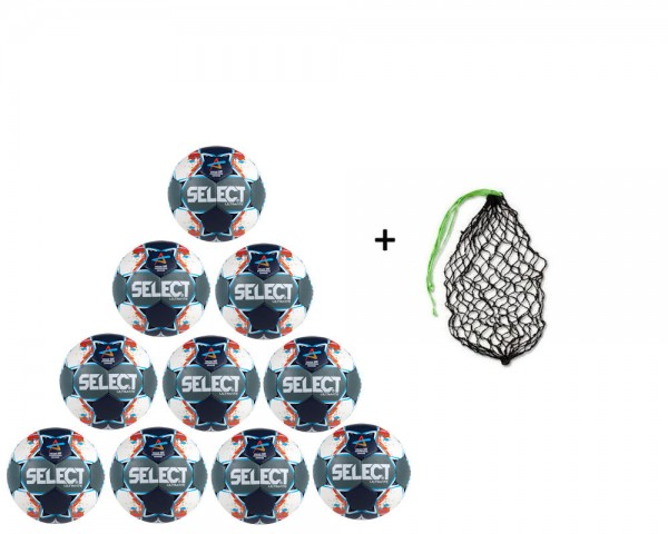 Select Handball Ultimate CL Men -10er Ballpaket inkl. Ballnetz