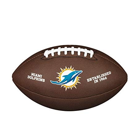 Wilson Football NFL Team Logo Miami Dolphins WTF1748MI