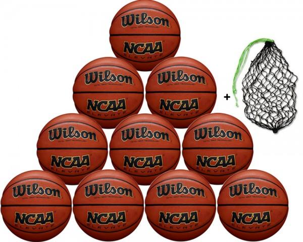 Wilson Basketball NCAA Elevate Gr.7 - 10er Ballpaket inkl. Ballnetz