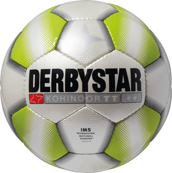Derbystar Fußballpaket Kohinoor TT weiß/grün (10 Bälle+Ballnetz)