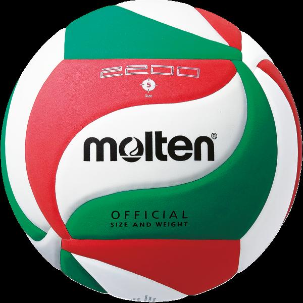 Molten Hallenvolleyball V5M2200 Gr.5 10er Ballpaket inkl. Ballnetz
