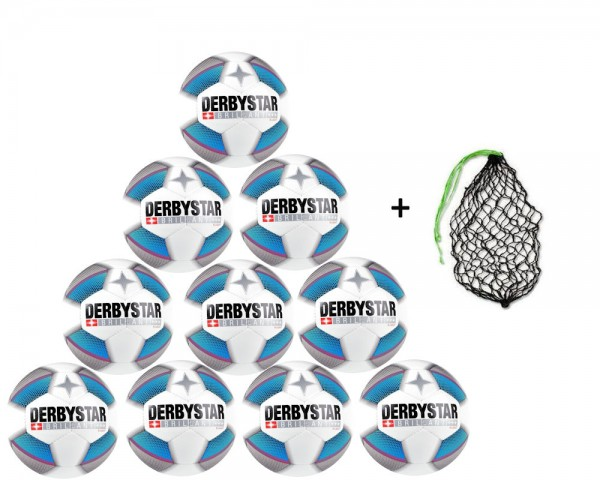 Derbystar Fußball Brillant S-Light DB GR 5-10er Ballpaket inkl. Ballnetz