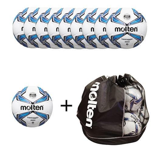 Molten Fußballpaket 10 x F5V3335 inklusiver Balltasche