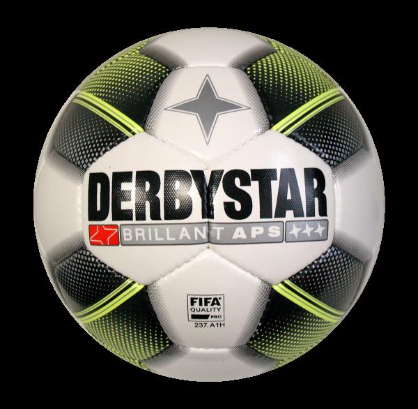 Derbystar Fußball Brillant APS schwarz/weiß/gelb Gr.5