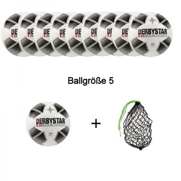 Derbystar Fußball Apus X-Tra TT Ballpaket (10 Bälle+Ballnetz)