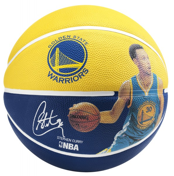 "Spalding Basketball NBA Player Ball ""Stephen Curry"" gelb/blau"