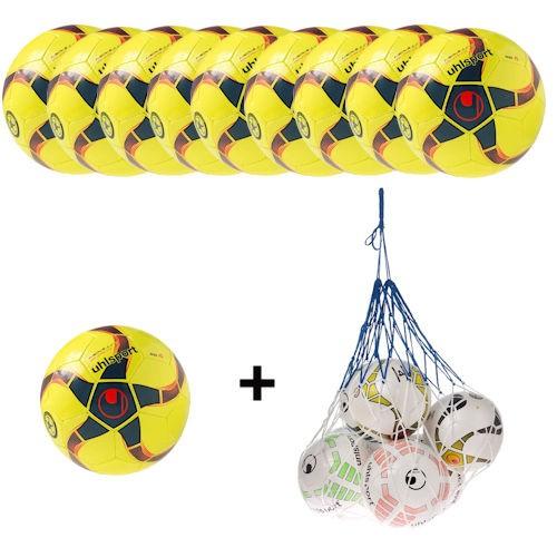 Uhlsport Futsal Medusa Anteo 290 Ultra Lite Ballpaket (10 Bälle + Ballnetz)