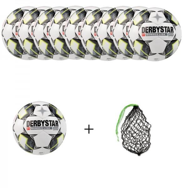 Derbystar Ballpaket Fußball Bundesliga Brillant TT Gr.5 (10 Bälle+Ballnetz)