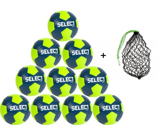 Select Handball Kids III 10er Ballpaket inkl. Ballnetz