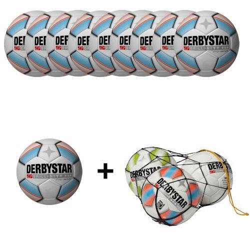 Derbystar Fußball Brillant TT Hyper Edition (10 Bälle+Ballnetz)