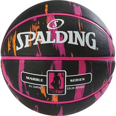 Spalding NBA Marble 4her - schwarz/pink/orange