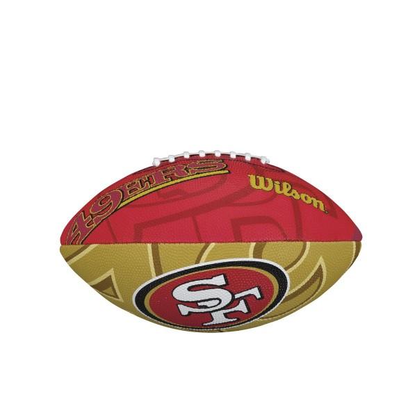 Wilson Football NFL Team Logo Jr. 49ers WTF1534XBSF