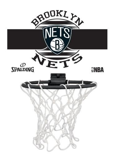 "Spalding Mini-Backboard NBA-Miniboards ""Brooklyn Nets"""
