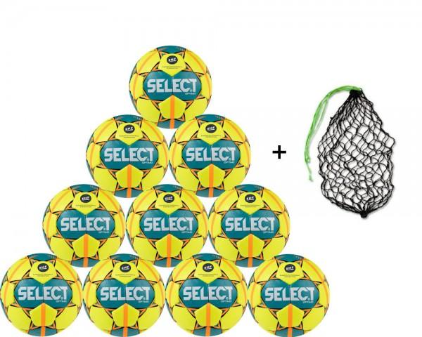 Select Handball Optimo Trainingsball 10er Ballpaket inkl. Ballnetz