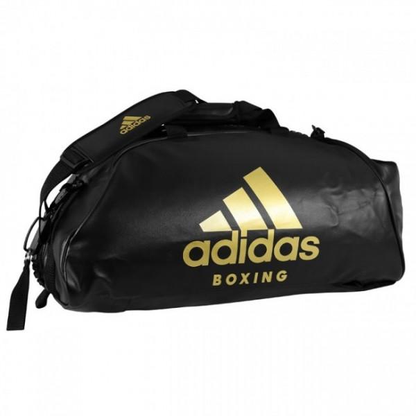 Adisas Sporttasche / Rucksack 2 in 1 schwarz/gold