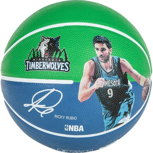 "Spalding Basketball NBA Player Ball ""Ricky Rubio"" blau/grün Gr.7"
