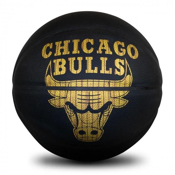 Spalding Basketball NBA Hardwood Series Chicago Bulls schwarz/gold Gr. 7