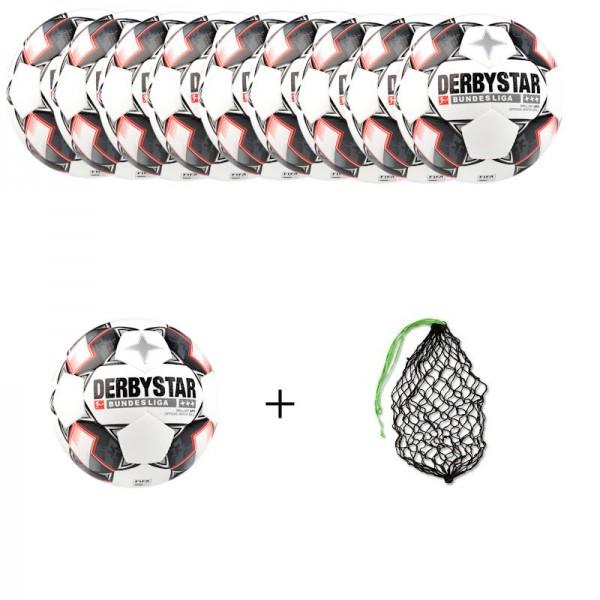 Derbystar Fußball Bundesliga Brillant APS Gr.5 Ballpaket (10 Bälle+Ballnetz)