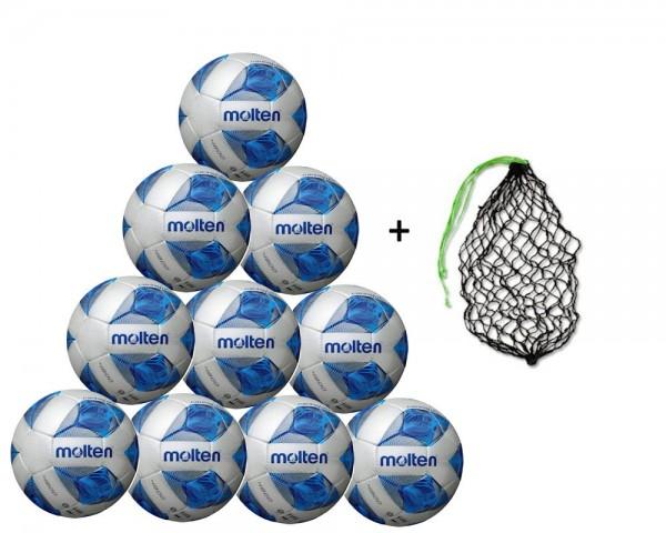 Molten Fußball F5A4800 - 10er Ballpaket inkl Ballnetz