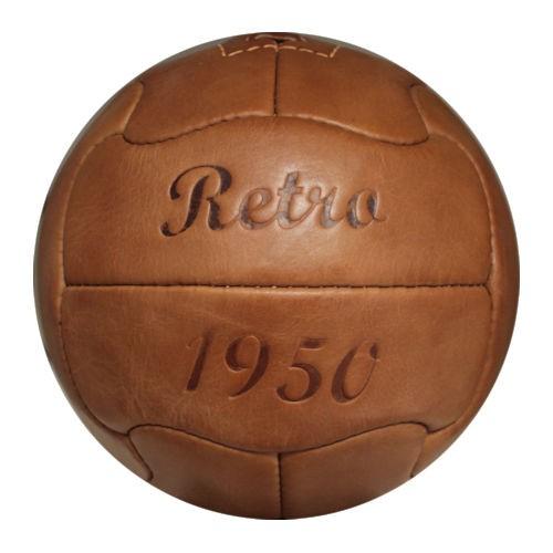 Fußball Retro 1950, Echtlederball, Retrofußball