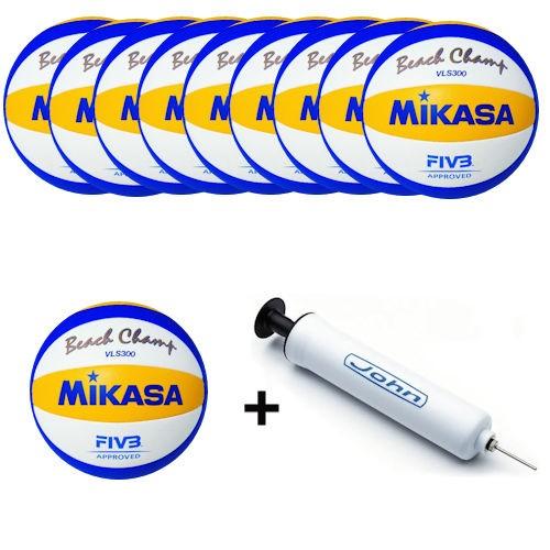 Mikasa Beachvolleyballpaket Beach Champ VLS 300 1608 - 5 oder 10 Bälle