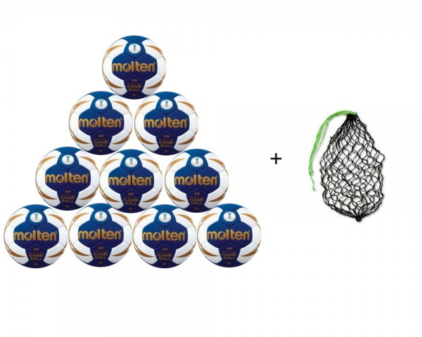 Molten Game Ball HX5001 10er Ballpaket mit Netz