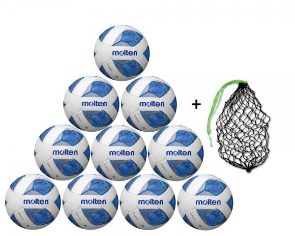 Molten Fußball FXA2810 - 10er Ballpaket inkl. Ballnetz
