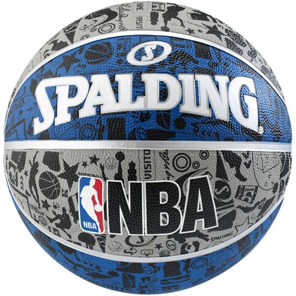 Spalding Basketball NBA Graffiti grau-blau