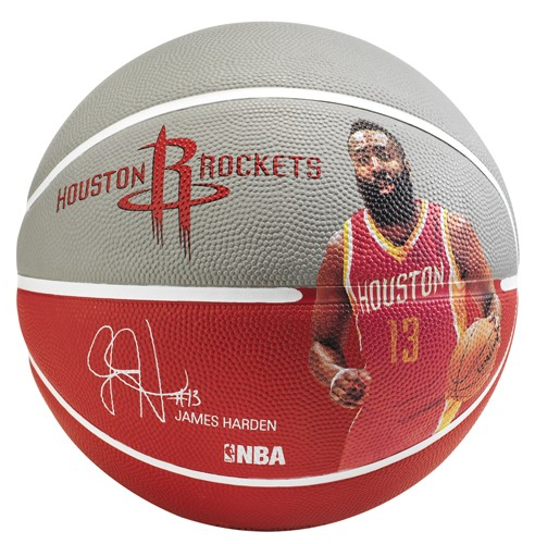 Spalding Basketball NBA Player Ball James Harden rot/grau