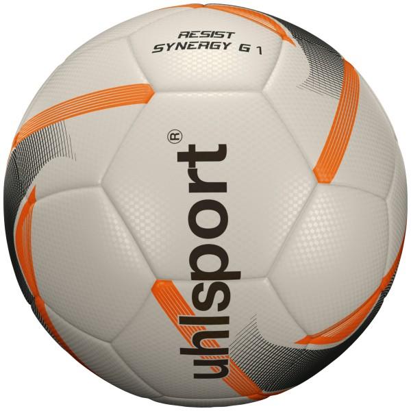 Uhlsport Fußball Resist Synergy Trainingsball weiß/schwarz/fluo orange