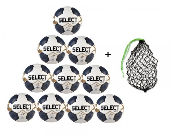 Select Handball Ultimate Replica Champions League V21 Trainingsball 10er Ballpaket inkl. Ballnetz