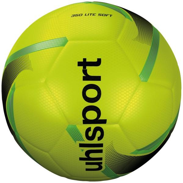 Uhlsport Fußball 350 Lite Soft fluo gelb/schwarz/fluo grün Gr. 5