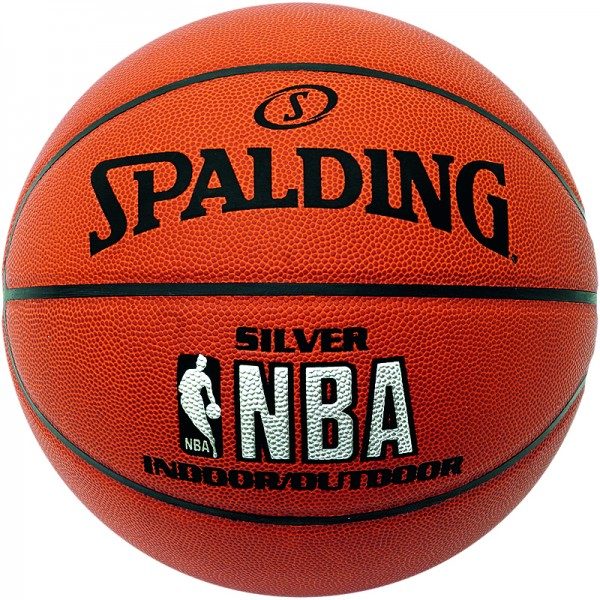 Spalding Basketball NBA Silver Indoor/Outdoor (Ballpaket)