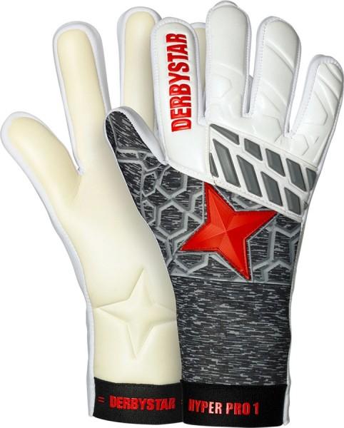 Derbystar Torwarthandschuhe Hyper Pro I weiss/grau/rot
